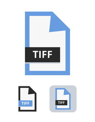 Tiff file flat vector icon. Symbol of TIFF file for pictures, photos, images, graphic, web and print isolated on a white background.