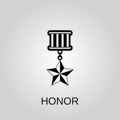 Medal honor icon. Medal honor concept symbol design. Stock - Vector illustration can be used for web.