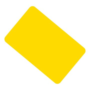 Yellow card icon. Flat illustration of yellow card vector icon for web design