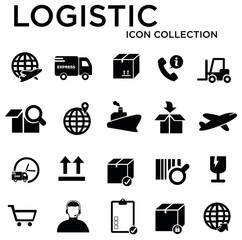 logistic collection icon