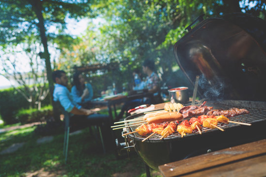 Afternoon Party, barbecue and roast pork