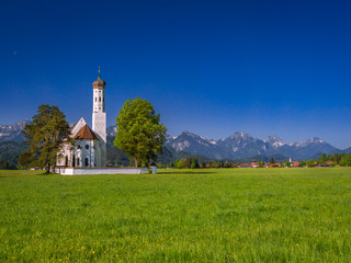St Coloman pilgrimage church near Schwangau Bavaria Germany