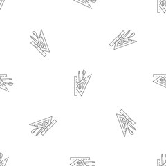 School supplies pattern seamless vector repeat geometric for any web design
