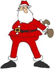 Santa doing the floss dance