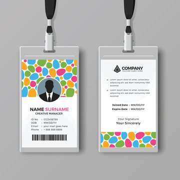 Creative ID card template with abstract background style