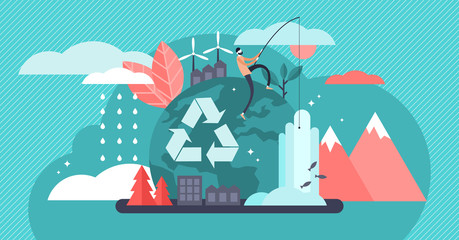 Environment vector illustration. Renewable and sustainable nature resources