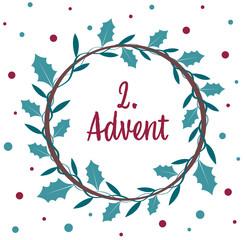 an advent wreath. the 2. Advent.