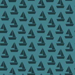 a seamless pattern with boats