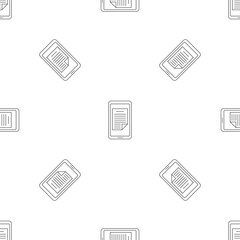 Smartphone document pattern seamless vector repeat geometric for any web design