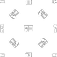 Read book pattern seamless vector repeat geometric for any web design