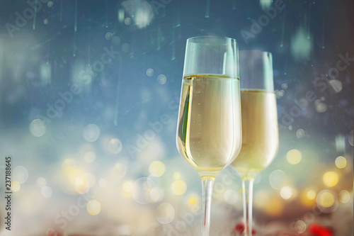 bokeh shiny abstract background champagne new year background