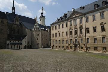 Altenburger Residenzschloss mit Schlosspark und Orangerie in der Skatstadt Altenburg, Thüringen, Deutschland