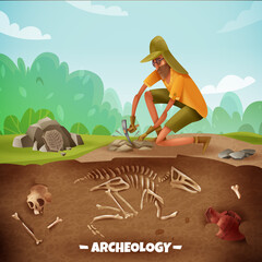 Archeologist Outdoor Expedition Background