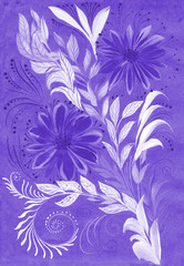 Pattern in ethnic style. Petrikovskaya painting. Flower composition. Stylized flowers. Use printed materials, signs, objects, websites, maps, posters, postcards, packaging.