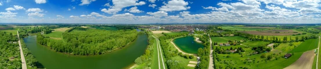 Luftbild Lampertheim am Altrhein