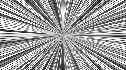 Grey psychedelic abstract star burst stripe background - vector explosive graphic