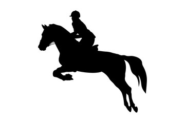 equestrian sport woman rider horse jumping competition  Papier Peint
