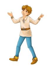 Cartoon character - boy on white background - illustration for children