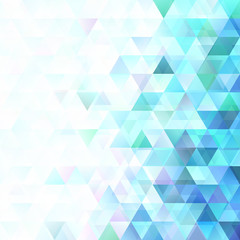 Vector retro low poly triangle background template design