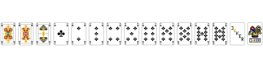 Playing Cards - Pixel Clubs