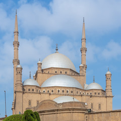 The great Mosque of Muhammad Ali Pasha (Alabaster Mosque), situated in the Citadel of Cairo, commissioned by Muhammad Ali Pasha, one of the landmarks of Cairo, Egypt