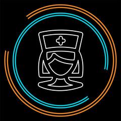 nurse icon, vector medical care, hospital symbol