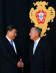 China's President Xi Jinping visits Lisbon