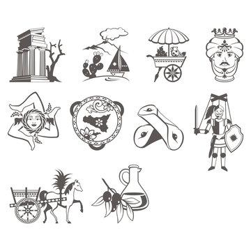 Sicily icon set