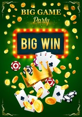 Casino invitation poster for gambling game party