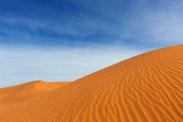 Big sand dunes in desert