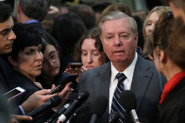 U.S. Senator Graham speaks to reporters after attending a closed-door briefing, on the Khashoggi death, by CIA Director Haspel at the U.S. Capitol in Washington