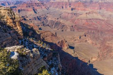 South Rim Grand Canyon Scenic Landscape