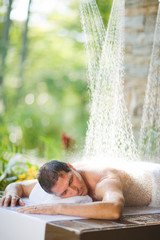 Man having a Vichy shower