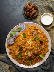 Arabic food: Chicken Kabsa it is a Traditional food in Arabian region.