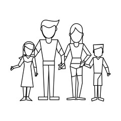 Family avatar concept black and white