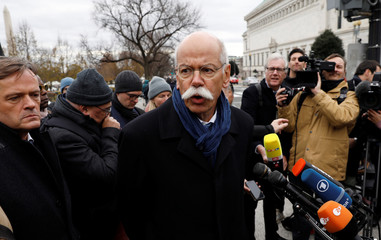 Daimler AG CEO Dieter Zetsche departs after his White House meeting in Washington