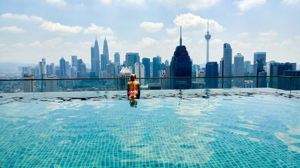 Fotobehang Kuala Lumpur Kuala Lumpur Infinity swimming pool