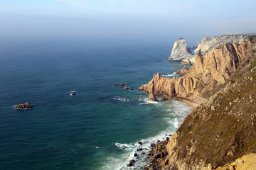The Atlantic coast, view from cape Roca, Portugal