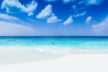 Turquoise water of Caribbean. Grand Cayman island