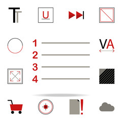 numbering icon. text editor icons universal set for web and mobile