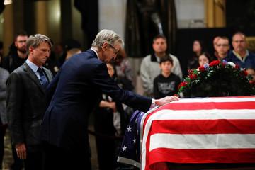 Former U.S. President George H.W. Bush lies in state in Washington