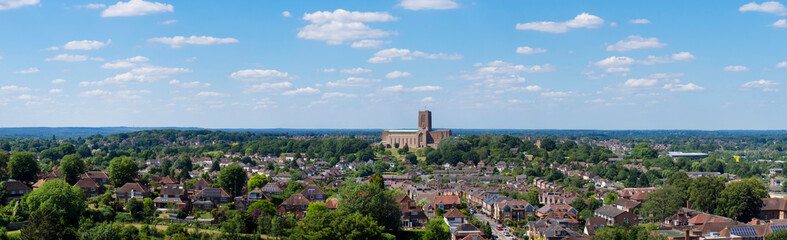 europe, UK, England, Surrey, Guildford, Cathedral panorama Wall mural