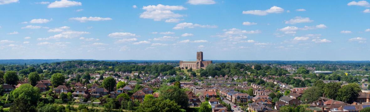 europe, UK, England, Surrey, Guildford, Cathedral panorama