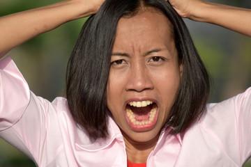 Beautiful Asian Female Under Stress