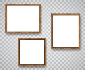 Wood blank frames set illustration