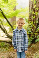 Little Boy Posing for Photo