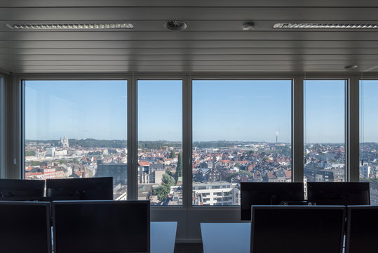 Office view of Brussels