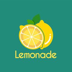 Vector Fresh Lemonade slice logo design template.