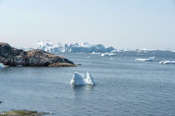 Icebergs on Arctic Ocean
