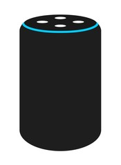 Smart speaker - flat vector icon